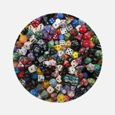 large dice pool Round Ornament