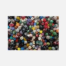 large dice pool Rectangle Magnet