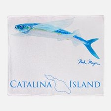 Flying Fish Catalina Island 2 Throw Blanket