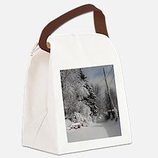 Puzzle Coaster Canvas Lunch Bag