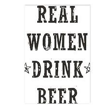 Real Women Drink Beer Postcards (Package of 8)