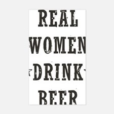 Real Women Drink Beer Decal