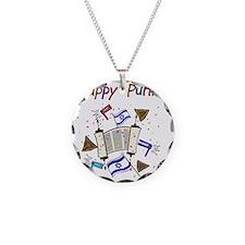 Happy Purim Necklace