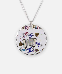 Happy Purim Necklace