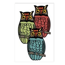 Owl Trio Postcards (Package of 8)