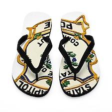 Connecticut Capitol Police patch Flip Flops