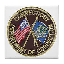 Connecticut DOC patch Tile Coaster