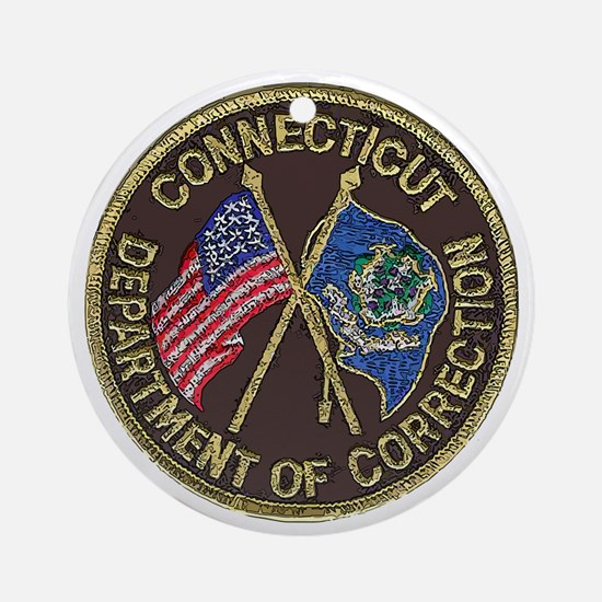 Connecticut DOC patch Round Ornament