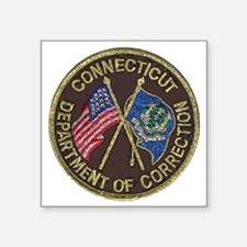 """Connecticut DOC patch Square Sticker 3"""" x 3"""""""