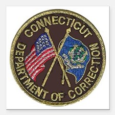 "Connecticut DOC patch Square Car Magnet 3"" x 3"""