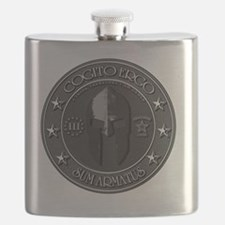 I Think Therefore I Am Armed Flask