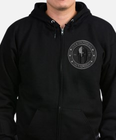 I Think Therefore I Am Armed Zip Hoodie (dark)