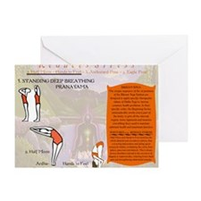 Bikram Yoga Postures #1 and #2 Greeting Card