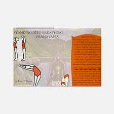 Bikram Yoga Postures #1 and #2 Rectangle Magnet