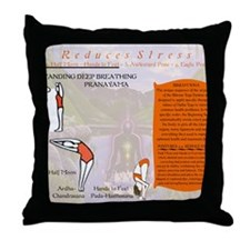 Bikram Yoga Postures #1 and #2 Throw Pillow