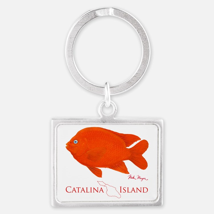 Garibaldi Catalina Island Landscape Keychain