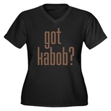 got kabob? Women's Plus Size V-Neck Dark T-Shirt