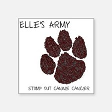 """Elles Army - Stomp out Canc Square Sticker 3"""" x 3"""""""
