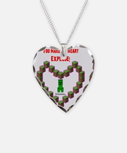 You make my Heart Explode Necklace Heart Charm