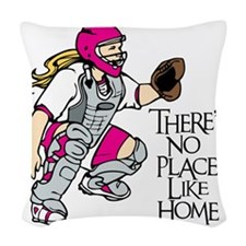 pink No Place Like Home Woven Throw Pillow