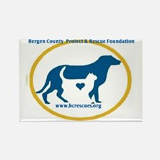 Bergen County Protect and Rescue  Rectangle Magnet