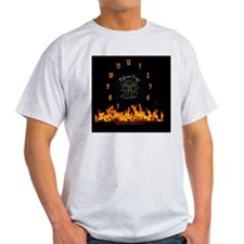 Bikram Yoga CLOCK ON FIRE_2 T-Shirt