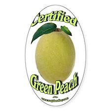 Certified Green Peach Logo Decal