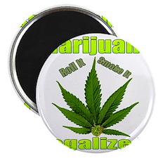 Marijuana Roll It Smoke It Legalized  Magnet