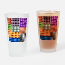 Patchwork 2 tartan Drinking Glass