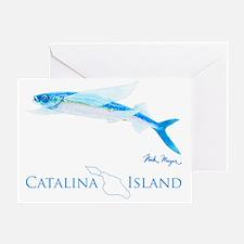 Flying Fish Catalina Island 1 Greeting Card