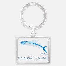 Flying Fish Catalina Island 1 Landscape Keychain