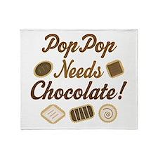 PopPop Chocolate Throw Blanket