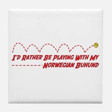 Buhund Play Tile Coaster
