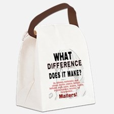 What Difference Does It Make Canvas Lunch Bag