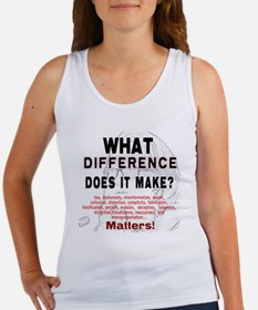 What Difference Does It Make Women's Tank Top