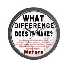 What Difference Does It Make Wall Clock