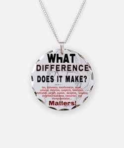 What Difference Does It Make Necklace Circle Charm