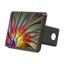 Fractal Bird of Paradise Hitch Cover