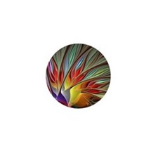 Fractal Bird of Paradise Mini Button