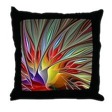 Fractal Bird of Paradise Throw Pillow