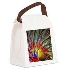 Fractal Bird of Paradise Canvas Lunch Bag