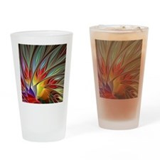 Fractal Bird of Paradise Drinking Glass