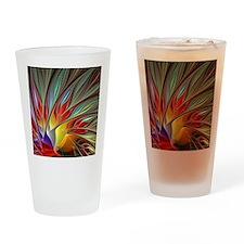Fractal Bird of Paradise Drinking Glass