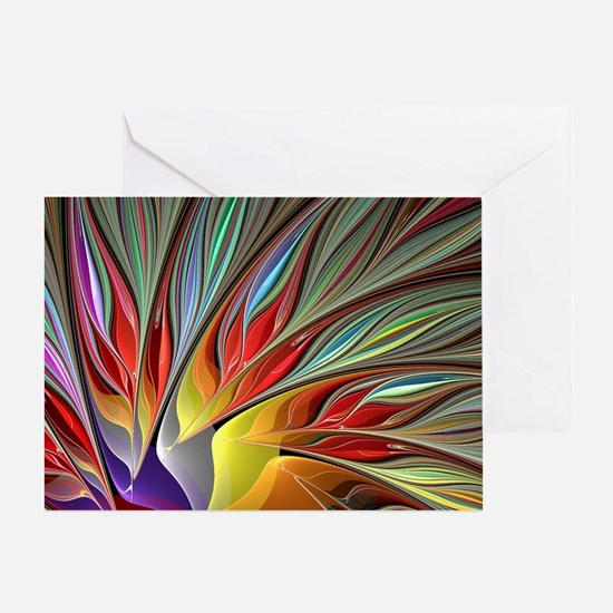 Fractal Bird of Paradise Greeting Card