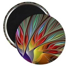 Fractal Bird of Paradise Magnet