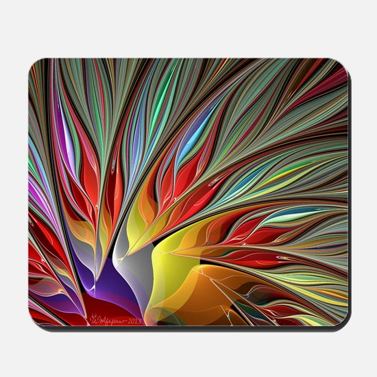 Fractal Bird of Paradise Mousepad