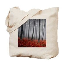 Black and Red Forest Tote Bag