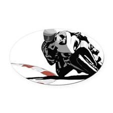 Track Rider Oval Car Magnet