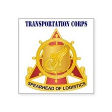 """Transportation Corps with T Square Sticker 3"""" x 3"""""""