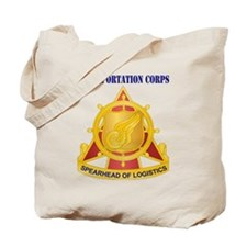 Transportation Corps with Text Tote Bag